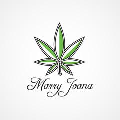 Creative Cannabis Logo Symbol Icon