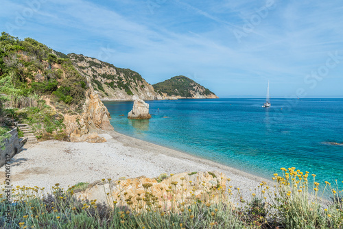 Wall mural Landscape with Sansone beach, Elba Island, Tuscany, Italy