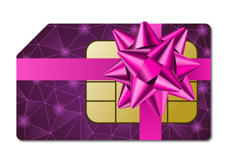 Abstract sim card as gift