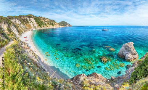 Wall mural Amazing landscape with Sansone beach and bay, Elba Island, Tuscany, Italy