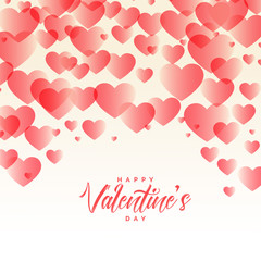 elegant hearts pattern beautiful valentines day background