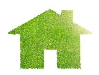 an eco house concept made of grass