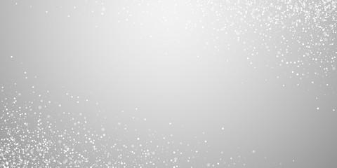 Magic stars Christmas background. Subtle flying sn