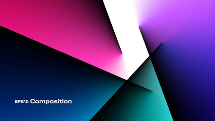 Abstract Color Composition Background. Aspect Ratio 16:9. EPS 10 Vector.