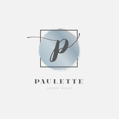Simple Elegant Initial Letter P Logo Type Sign Symbol Icon