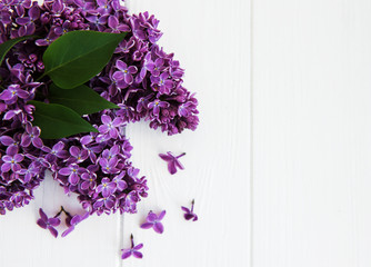 Wall Murals Lilac Lilac flowers on a table