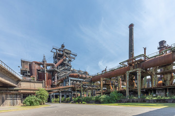 Acrylic Prints Industrial building Disused blast furnace plant in Duisburg