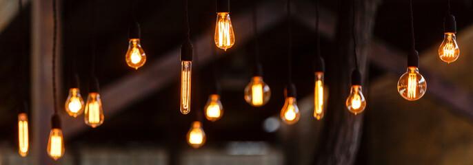retro lighting Many decorative light bulbs