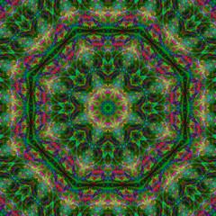 mandala digital abstraction design