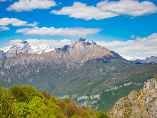 View of Grigna Meridionale as viewed from hiking trail to Corni di Canzo