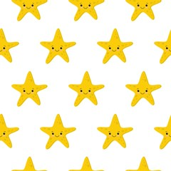 Seamless pattern with starfishes Cute nautical backgrounds. Marine life Background.