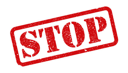 Stamp stop sign - vector