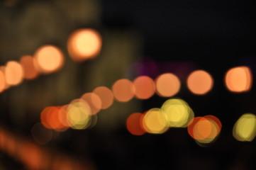 lights on background of lights