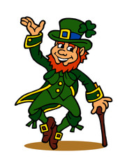 Saint Patrick Leprechaun symbol of Ireland clipart