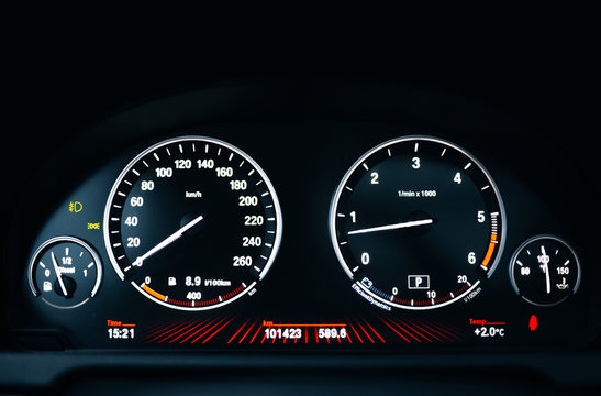 Modern car dashboard with adjustment
