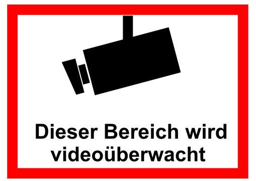 Warnhinweis Videoüberwachung