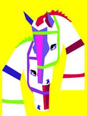 Zakochane konie, pop-art