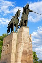 Gediminas Denkmal auf dem Kathedralenplatz in Vilnius, Litauen