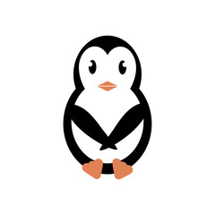 Penguin icon illustration, flat style. Vector - Vector