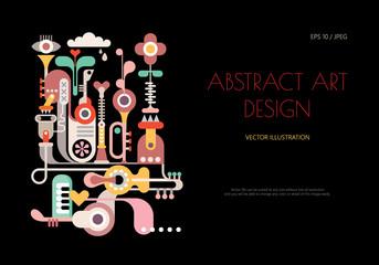 Door stickers Abstract Art Abstract art design vector illustration