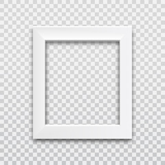 Picture frame white vector