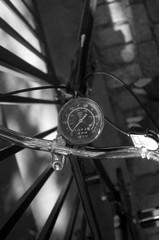 Bicycle Speedometer Analog Black and White
