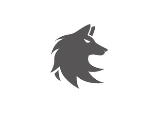 wolf logo fox illustartion