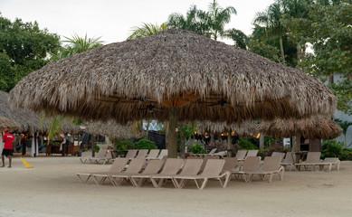Large tropical hut