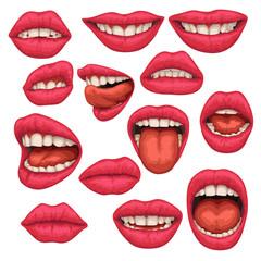 woman mouth set