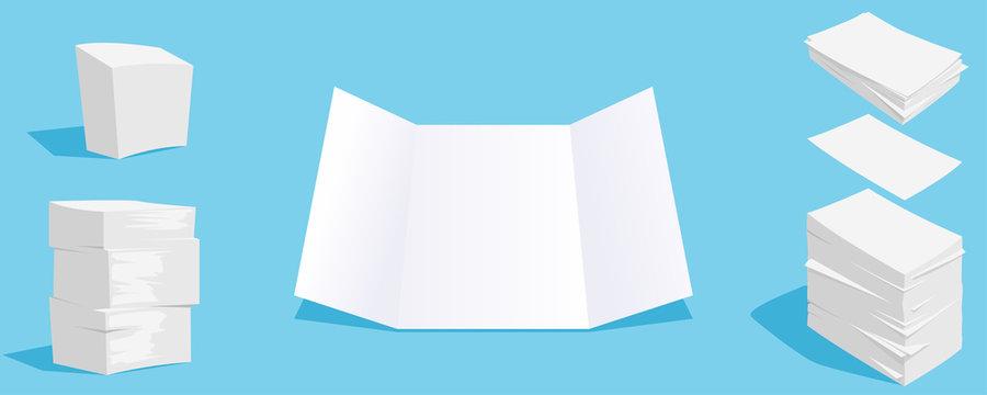 paper stacks set