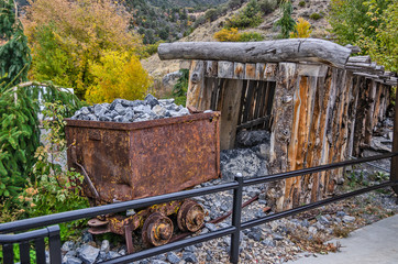Rusty Ore Cart and Adit