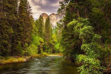 Yosemite's Merced River  in the spring