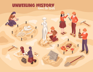 Archeology Isometric Illustration