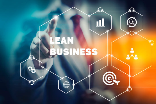 Agile and lean business management concept image, team and company development strategy