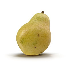 Pear Yellow 3D Illustration on White Background Isolated