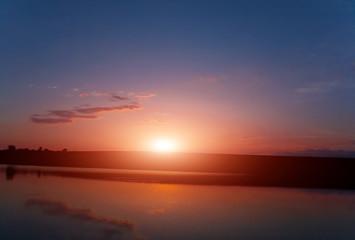 sunset Spring season