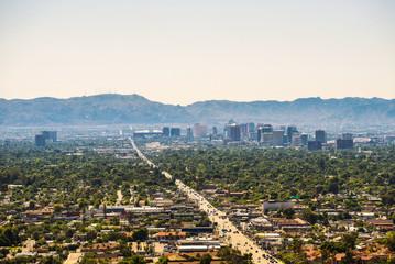 Fototapete - Phoenix Arizona skyline
