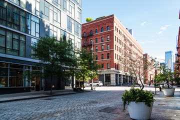 Street view of Tribeca in New York