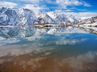 Mountain scenery reflected in the water surface【日本アルプス_白馬・八方池】