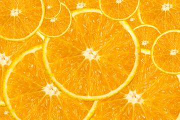 Orange Sliced on isolated background