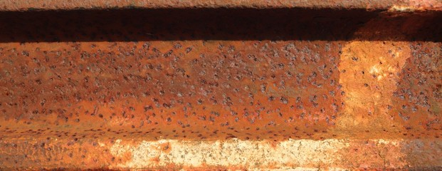 High resolution surface texture of rusty metal structures