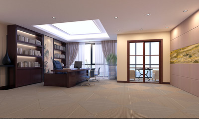 3d render of modern office