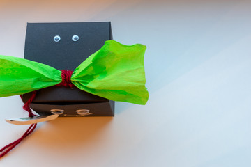 Funny gift box with toy eyes