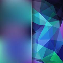 Abstract polygonal vector background. Dark geometric vector illustration. Creative design template. Abstract vector background for use in design. Blue, green, black colors.