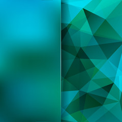 Abstract polygonal vector background. Geometric vector illustration. Creative design template. Abstract vector background for use in design. Green, blue colors.
