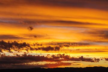 Wall Mural - Sunset scene