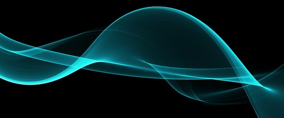 Abstract Soft Color Blue Wave Background