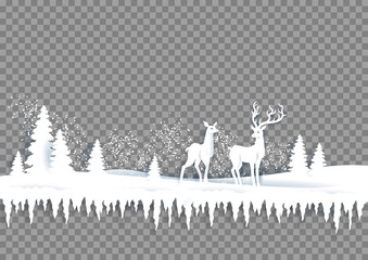 Fotomurales - Winter paper landscape