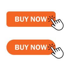 Hand cursor clicks buy button - fototapety na wymiar