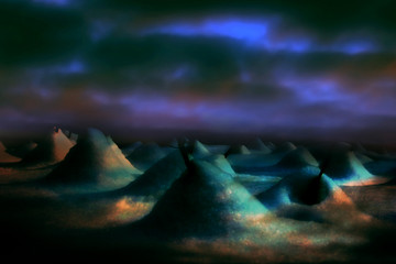 Surreal Atmospheric Fantasy Landscape